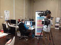 Channel 7 filming at The Creative Fringe. Www.thecreativefringe.com.au