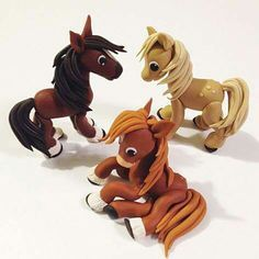"Horses From ""Let's clay with Ewa"" fb page."