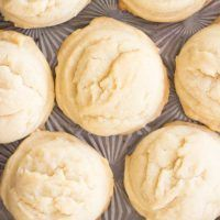 Amish Sugar Cookies Recipe! Soft, melt-in-your-mouth sugar cookies! These could not be easier and are made with common pantry ingredients!