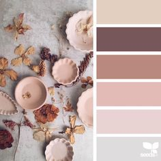 Pink, brown and beige color palette