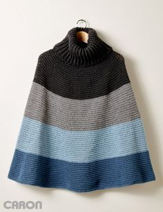 Cozy Cowl Cape - Patterns | Yarnspirations Crochet ponchos are definitely making me wish for fall!
