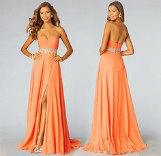 Chiffon Wedding Bridesmaid Formal Gown Party Cocktail Evening Prom Dress 6-16