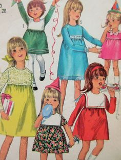 Vintage Simplicity 6811 Sewing Pattern, 1960s Dress Pattern, Little Girl's Dress Chest 28, 1960s Sewing Pattern, Child Frock, Vintage Sewing by sewbettyanddot on Etsy