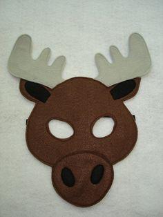 Children's MOOSE Felt Animal Mask by magicalattic on Etsy, $12.50