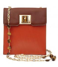 4c7c94a8c8e3 Andrew Gn Rust Cognac Leather Pocket Bag