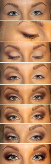 Top 10 Fall Brown Smoky Eye Tutorials - Top Inspired Bigger Eyes Makeup Tutorial - 10 Brown Eyeshadow Tutorials for Seductive Eyes Eye Makeup, Fall Makeup, Kiss Makeup, Soft Makeup, Natural Makeup, Summer Makeup, Makeup Eyebrows, Makeup Geek, Makeup Brushes
