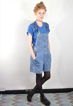 , women, all-in-ones Denim Dungarees, Overalls, Denim Shorts, Vintage Boutique, Overall Shorts, All In One, Photoshoot, Clothes For Women, Shopping