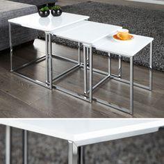 Amstyle Design Beistelltisch Fusion 3er Set 40x40cm 35x35cm 30x30cm We