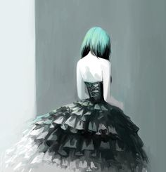 Emo anime painting