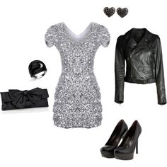 hate the accessories... love the dress, jacket, shoes