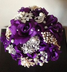Vintage Wedding Reception Centerpiece | DIY brooch bouquet | Weddingbee DIY Projects