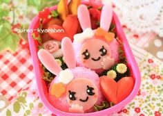 pink bunny bento
