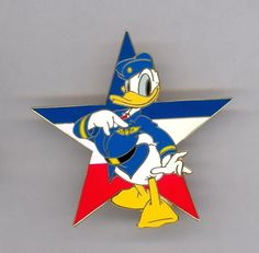 Disney Auctions Military Air Force Officer Donald Duck Points to Pilot Wings Pin