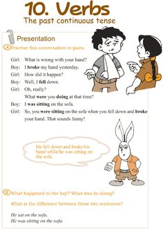 Grade 3 Grammar Lesson 10 Verbs – the past continuous tense