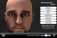 Micro-Expression Trainer  App for iPad, iPhone  Zie http://appfinder.lisisoft.com/app/micro-expression-trainer.html