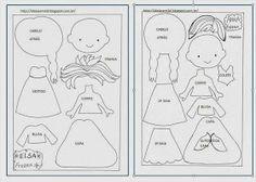 Moldes _ elsa e anna frozen Frozen Felt, Elsa Frozen, Quiet Book Templates, Felt Templates, Applique Templates, Applique Patterns, Card Templates, Felt Patterns, Stuffed Toys Patterns