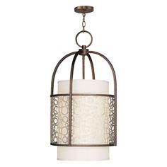 Livex Avalon 8677-64 Foyer Light 31.25H in. - Palacial Bronze - 8677-64