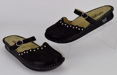 Alegria Tuscany Women's Size 40 Black Leather Mary Jane Clogs US 10 #Alegria #MaryJanes #Casual