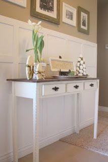 DIY entry table for under $50. . totally getting my husband to make this for me