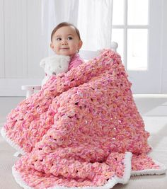 Baby Bobble Blanket - saw this today on display at JoAnn's and it's very cute and cuddly!  I want one for myself!