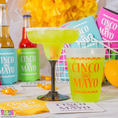Check out our line of drinkware products for your Cinco de Mayo celebration party needs! We offer custom margarita glasses as well as personalized party cups! #cincodemayo #party #celebrate