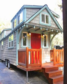 Inside this tiny camper is one of the most unbelievable tiny homes I have ever seen! Sometimes with these small houses it is difficult to have an open feel, but once you see the inside of this place you won't believe it is the same house.