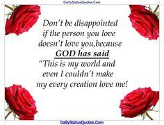 GOD has said  Daily Status Quotes