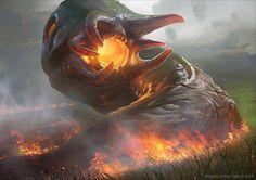 Cinder Hellion - MtG Art Oath of the Gatewatch