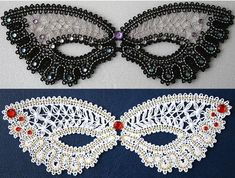 Advanced Embroidery Designs - FSL Battenberg Masquerade Lace Mask Set