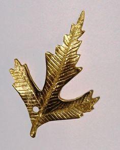 Metal yaprak kolye ucu