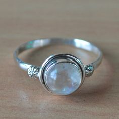 Moonstone Birthstone Ring in Sterling Silver RingSterling