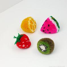 Come fare fruttini con in pom pom Tutorial