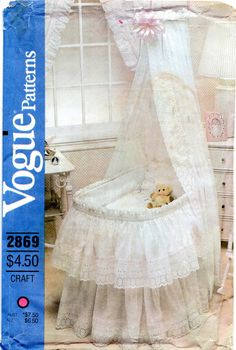 Vogue 2869 1980s Baby Accessories for Bassinet Pattern by mbchills, $18.00