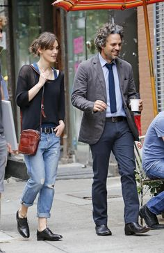 both outfits - perfection! #beginagain #Keira #MarkRuffalo