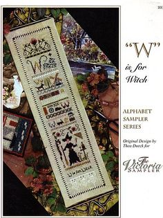 W is For Witch. Cross Stitch Pattern. By Victoria Sampler. $10.65