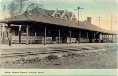 Rock Island Depot, Vinton, Iowa  My sweet hubby is from there:))