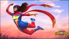 Marvel Contest of Champions Kamala Khan Spotlight! Marvel News, Marvel Comics Art, Marvel Dc Comics, Marvel Heroes, Marvel Characters, Captain Marvel, Marvel Universe, Universe Art, Loki