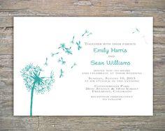 Dandelion Invitation - Printable DIY for wedding or event. $35.00, via Etsy.
