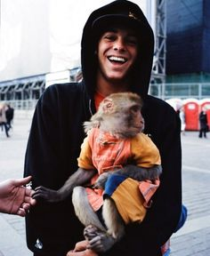And I conclude with rayn sheckler holding a monkey. What more do you want?