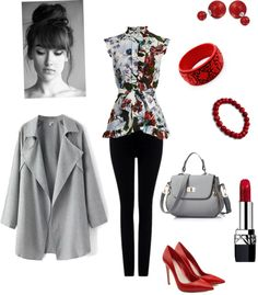 Untitled #415 by i-would-prefer-not-to featuring a floral shirt ❤ liked on Polyvore Erdem floral shirt, 1,240 BAM / Trench coat, 100 BAM / Citizens of Humanity stretch jeans, 515 BAM / Alexander...