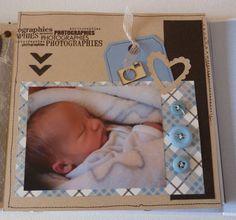 Baby Girl Scrapbook, Baby Scrapbook Pages, Scrapbook Albums, Album Photo Scrapbooking, Baby Mini Album, Picture Frame Art, Mini Albums Scrap, Diy Crafts For Gifts, Scrapbook Designs