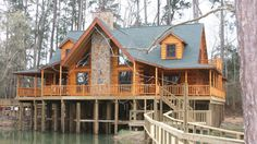 Log home wants on pinterest log homes log home designs Log cabin homes on stilts