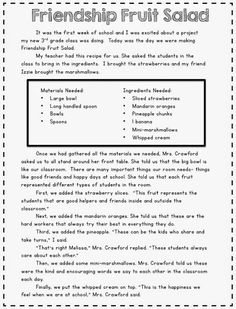 Not Your Typical Friendship Fruit Salad Preschool Friendship, Friendship Crafts, Friendship Lessons, Friendship Theme, Friendship Activities, Friendship Salad, Neil Armstrong, Beginning Of School, First Day Of School