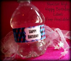 Mighty Delighty: Printables for a monster high birthday party