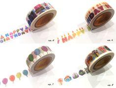 Japanese Washi Tape Rainbow Happy Birthday by afterninety on Etsy