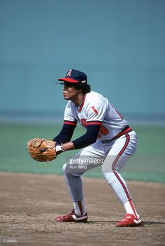 Rod Carew of the California Angels stands ready for a play during a MLB season game circa 1979-1985.