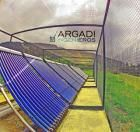Panel solar termico de tubo de vacio