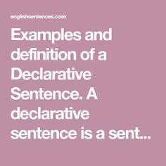 declarative sentence definition