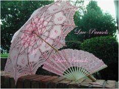 """Lace-Parasols: """"Juliet"""" Pink Parasol"""