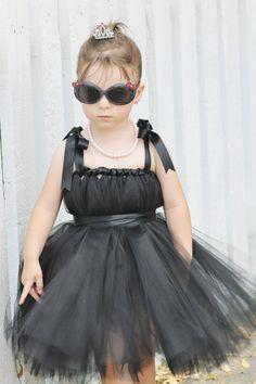 Black Audrey Hepburn tutu dress for toddler by Aidascreativecorner, $35.00